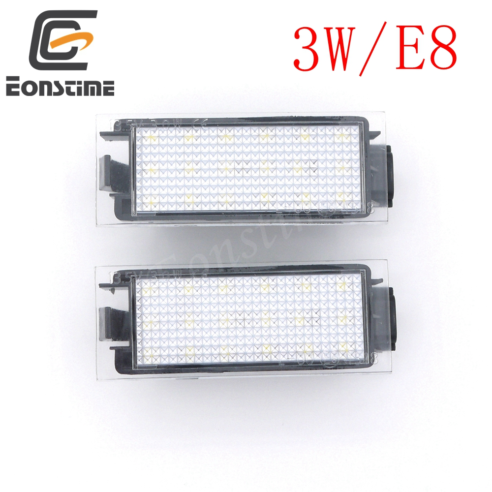 Eonstime 2PCS LED number License Plate Lights For Renault Twingo II  Clio III3D Megane II  Kombi  5D Laguna II  Velsatis 2006