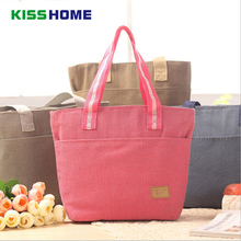 цена на Lunch Bags For Women Kids Men Cotton and Linen Cooler Lunch Tote Bags Insulation Solid Color Lunch Bag Thermal Food Bag Adults