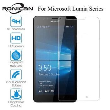 Szkło hartowane dla Microsoft Lumia 535 550 650 630 635 530 Screen Protector dla Nokia Lumia 640 950 XL 640XL 950XL folia wierzchnia