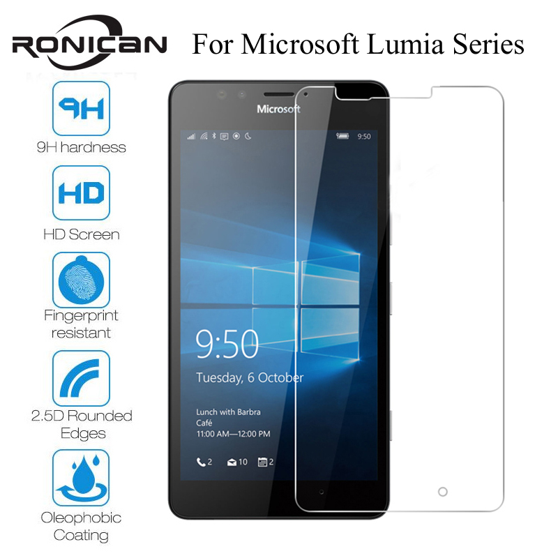 Tempered Glass For Microsoft Lumia 535 550 650 630 635 530 Screen Protector For Nokia Lumia 640 950 XL 640XL 950XL Front Film