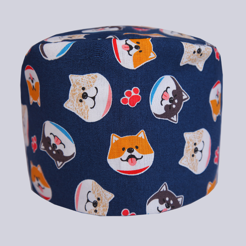 98da87917ff90 Unisex Print Scrub Cap Dentist Medical Hospital Surgical Hat Cotton Fabric  Husky Deep Navy Adjustable Tie Back With Sweatband -in Accessories from  Novelty ...