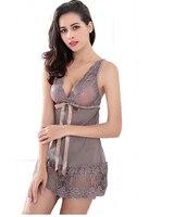 Hot 2016 New Women Sexy Nightwear 5 Colors Plus Size S XXL Lace Nightgown Sleepwear Dress