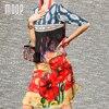 Women Bohemian Print Summer Pure Silk Dress Side Split Front Tassel A Line Sundress Robe Femme