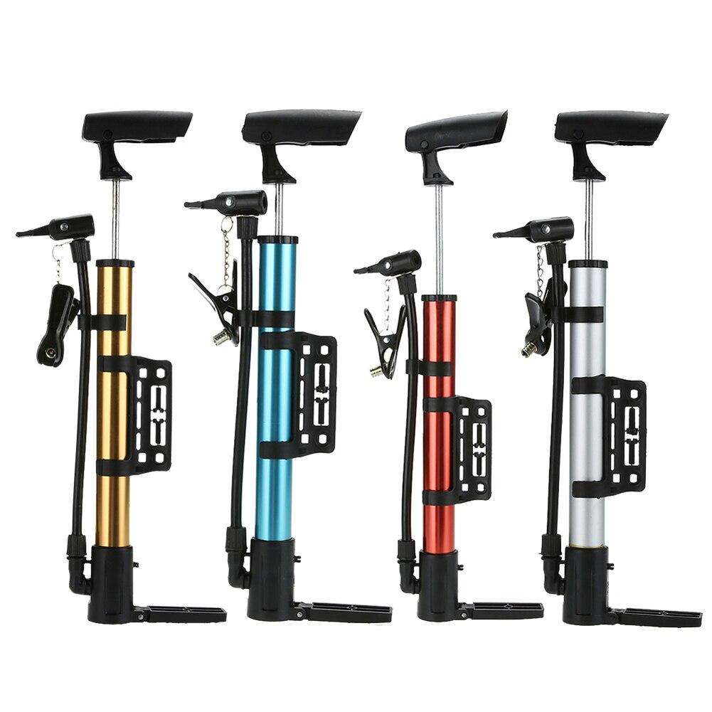 цена на Mini Portable Bicycle Air Pump Aluminum Bicycle Hand Pump MTB Road Bike Lightweight Tire Inflator Cycling Bicycle Accessories
