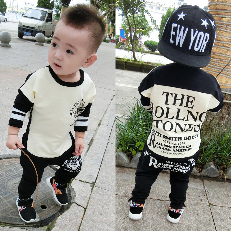T-Shirt Long-Sleeves Baby-Boy Boys Kids Winter Pant Cartoon 2pcs Leisure title=