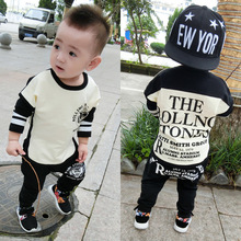 2019 Baby Boy Clothes winter Cartoon Boy Clothing Set Long sleeves Leisure boys t shirt+ Pant 2pcs kids clothes set