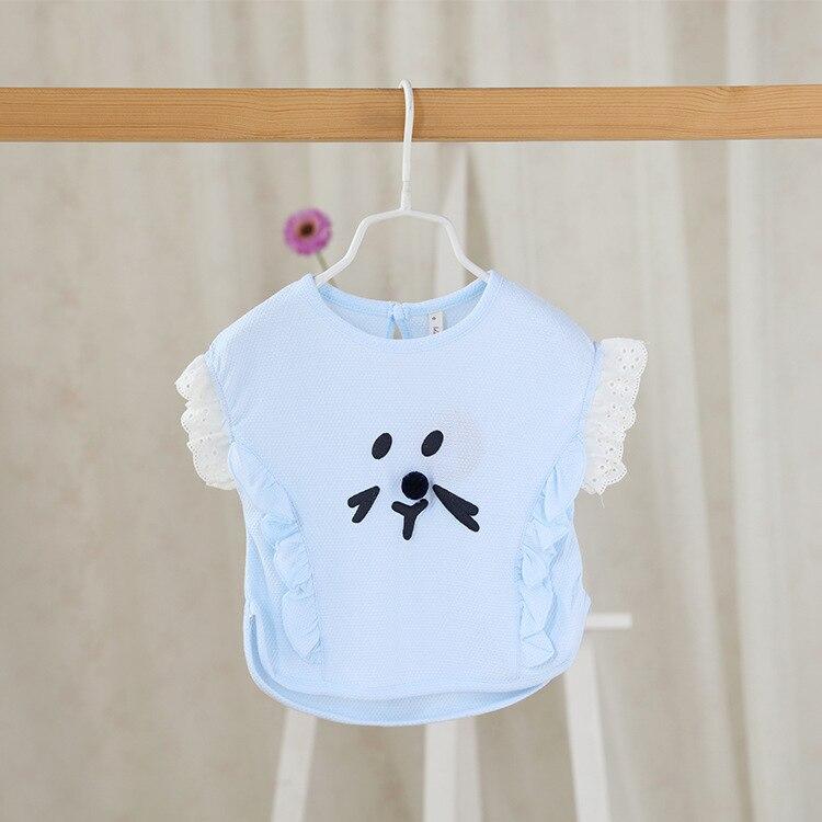2016 été nouveaux enfants de vêtements en gros infantile filles T-shirt  bande dessinée à manches courtes pur doux bébé 6ade69cb75d