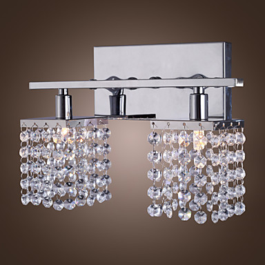 G9 Modern Crystal LED Wall Light Lamp With 2 Lights For Livng Room Home Lighting Wall Sconce Free Shipping