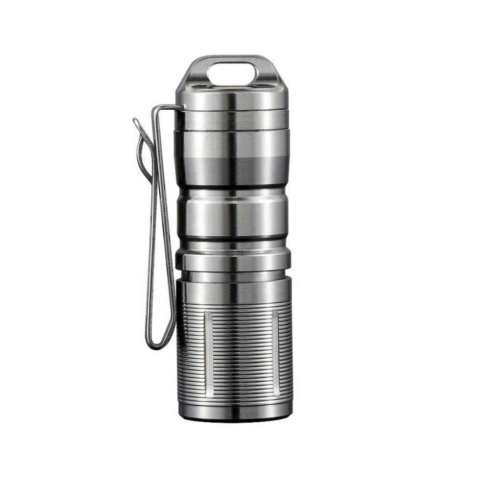 Jetbeam MINI-1 Super Mini Powerful And Rechargable Cree XP-G2 LED Led Flashlight Titanium Keychain By 10180 Battery