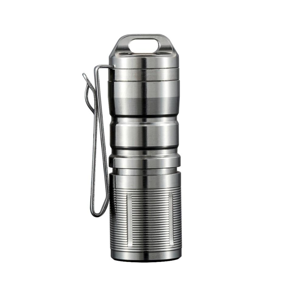Jetbeam MINI-1 Super Mini Powerful And Rechargable Cree XP-G2 LED Led Flashlight Titanium Keychain By 10180 Battery