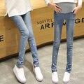 2016 весной новый родильный джинсы высокое качество хлопок брюки для беременных женщин джинсовые беременных джинсы Большой размер материнство брюки