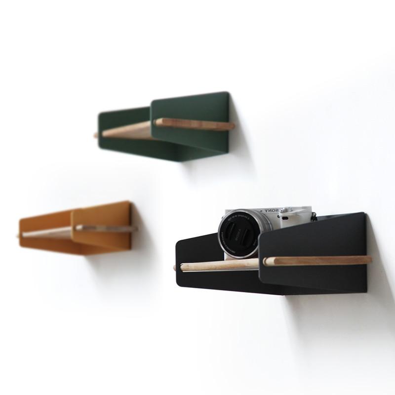 2019 Brief Wall Nordic Wall Decoration Magazine Storage Holders Racks wood Modern Design Hanger for corridor Rails bookrack - 5
