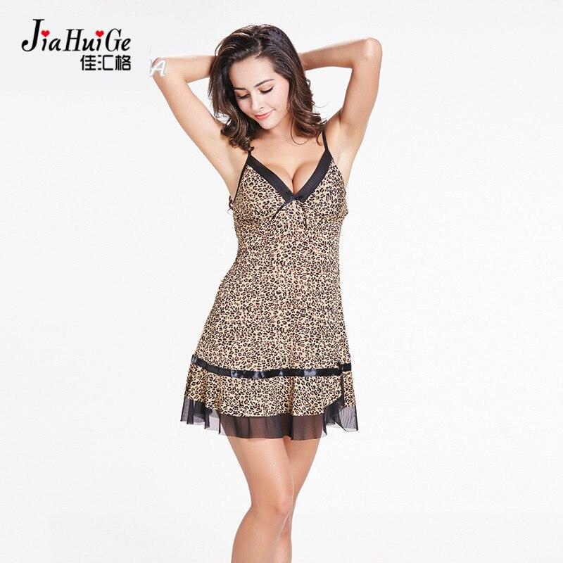JiaHuiGe Summer Sleepwear Women Sexy Nightgown Ladies Sleeveless Cotton Nightdress Nightgown Pattern Sleepwear Nightgown Dress