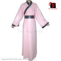 Сексуальный латекс халат резиновые соусом китайский халат хан костюм традиционные китайцы платье халат пижамы плюс QZ-065