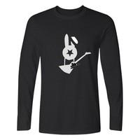 Russia Bi 2 Long Sleeve Men Shirt Autumn Fashion Black T Shirt Men Cotton Famous Rock