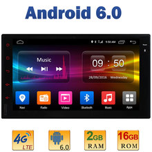 7″ 1024*600 Quad Core 2GB RAM+16GB ROM 4G LTE SIM WIFI Android 6.0 2Din For Nissan Universal Car Player Radio DAB+Mirror Link BT