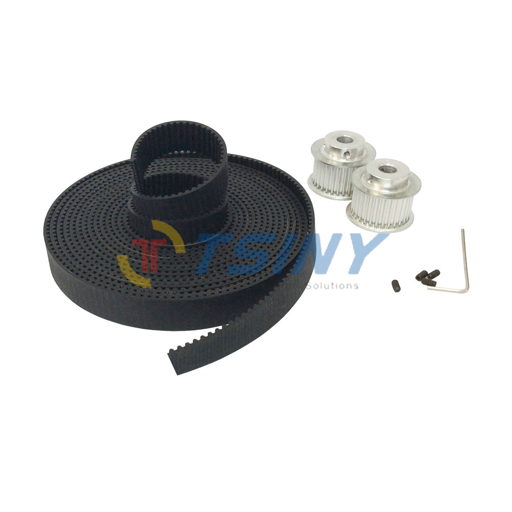 2pcs HTD 3M Timing Belt Pulley Wheel Bore 8mm 12mm Teeth Number 38 + 3 Meters Rubber Open Ended Timing Belt Belt Width 15mm htd 3m timing belt 10 meters open ended rubber belt