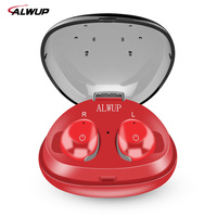 ALWUP TWS True Wireless Earbuds With Mic Mini Sport Wireless Bluetooth Earphone For IPhone Bluetooth 4