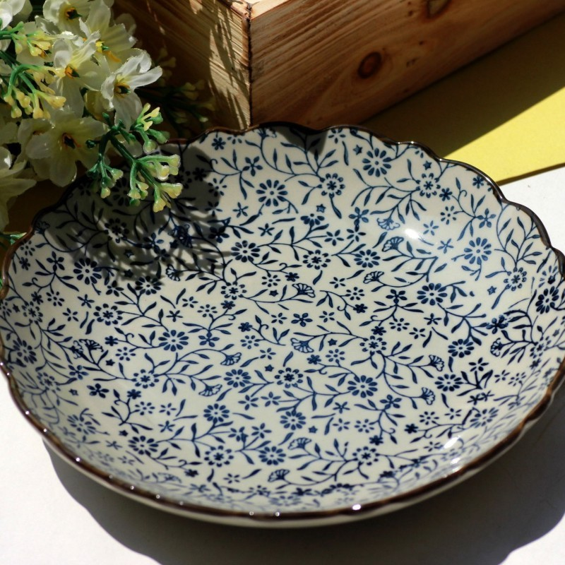 Endulge Japanese Style Ceramic Tableware Blue And White