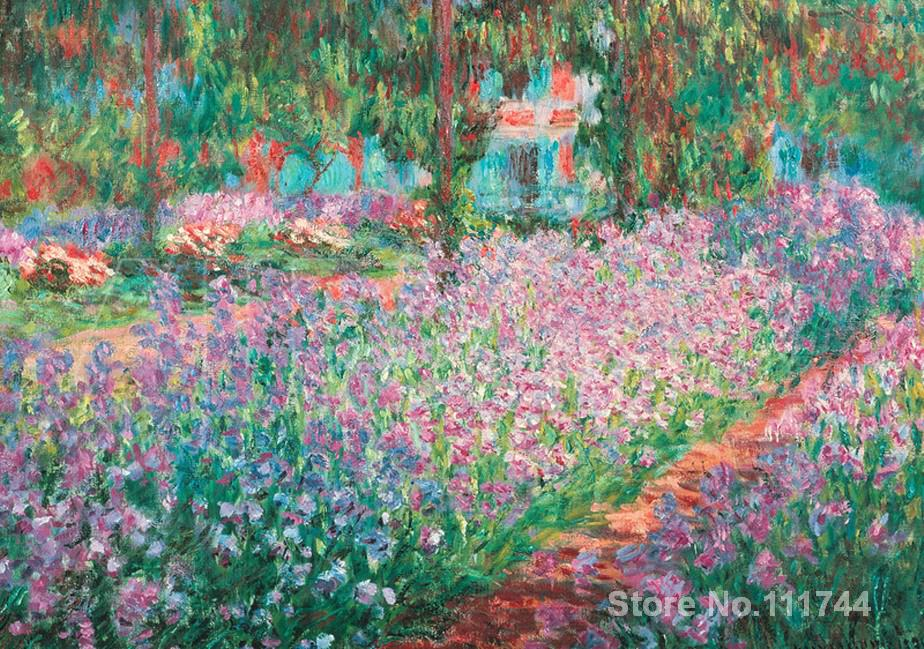 office art Jardin A Giverny famous Claude Monet paintings