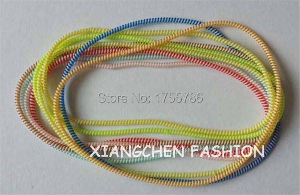 New Fashion TWO Tone Colors Mix Long Slim Thin Elastic Telephone Wire Hair Circle Hair Rope Bracelets Hair Accessories