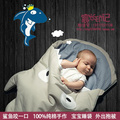 Hot Selling Cute Shark Design Baby Sleeping Bags, 100% Cotton Newborn Swaddle, Inflant Sleep Bag & Blanket Winter