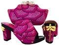 Африканские Соответствия Обувь И Сумка Набор, женщина итальянские соответствия обувь и сумки установить, фуксия size37-43 Итальянский обуви и мешок набор MJT1-8