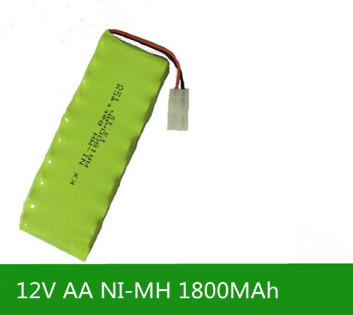Cncool 1X New Origina AA Ni-MH 12V 1800mAh Ni MH Rechargeable Battery Pack With Plugs fast shipping