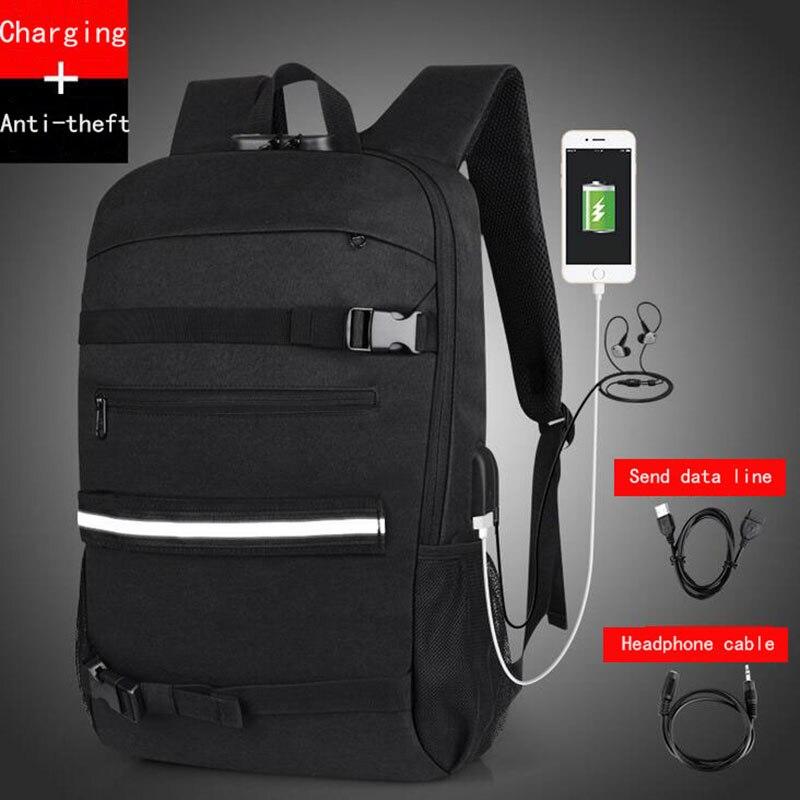 цена Senkey Style Backpack Men New Password Lock Anti-theft Waterproof Big USB Charging Graffiti Student School Bags For Teenagers онлайн в 2017 году