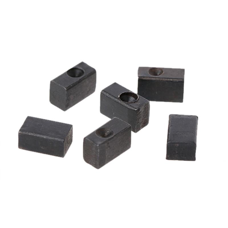 6pcs/set Electric Guitar Tremolo Bridge Saddle Clamp Locking String Insert Block High Quality