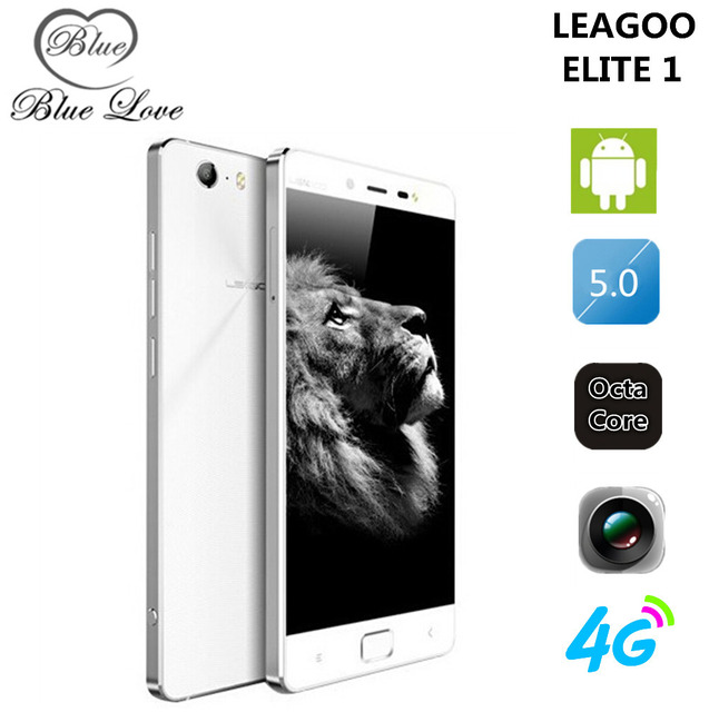 Оригинал Leagoo Elite 1 5 дюймов FHD 16MP + 13MP FDD LTE Mobile телефон окта основные 3 ГБ RAM 32 ГБ ROM Отпечатков Пальцев ID Android 5.1
