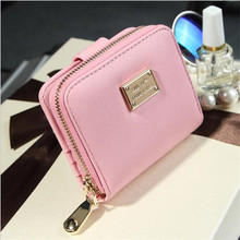 Hot sale Fashion Top Quality Small Wallet PU Matte Leather Purse Short Female Coin Zipper Clutch Credit Card