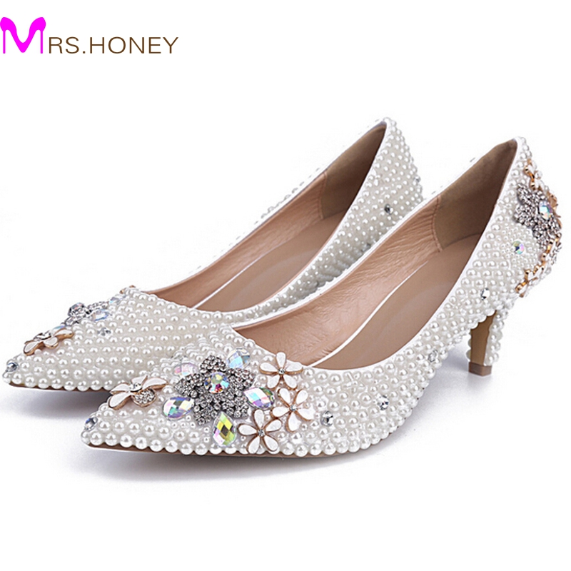 Middle Heel Comfortable Shoes Pointed Toe Party Prom SHoes Elegant  Bridesmaid Shoes 2 Inches Women Shoes - Popular Party Shoes 1 Inch Heels-Buy Cheap Party Shoes 1 Inch