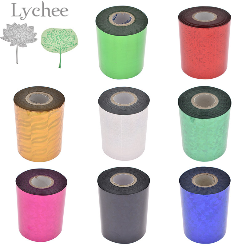 5pcs A4 Hot Stamping Foil Paper Multicolor Cards DIY Crafts Material Handmade