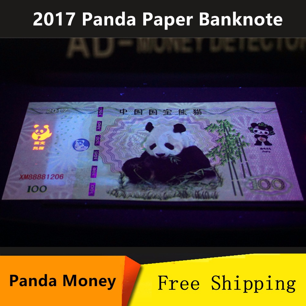 Kawaii 2017 Chinese Panda Paper Banknotes 6 Pcs /Lot Anti-Fake 100 Yuan China Money Not Currency Rare Animals Collectibles