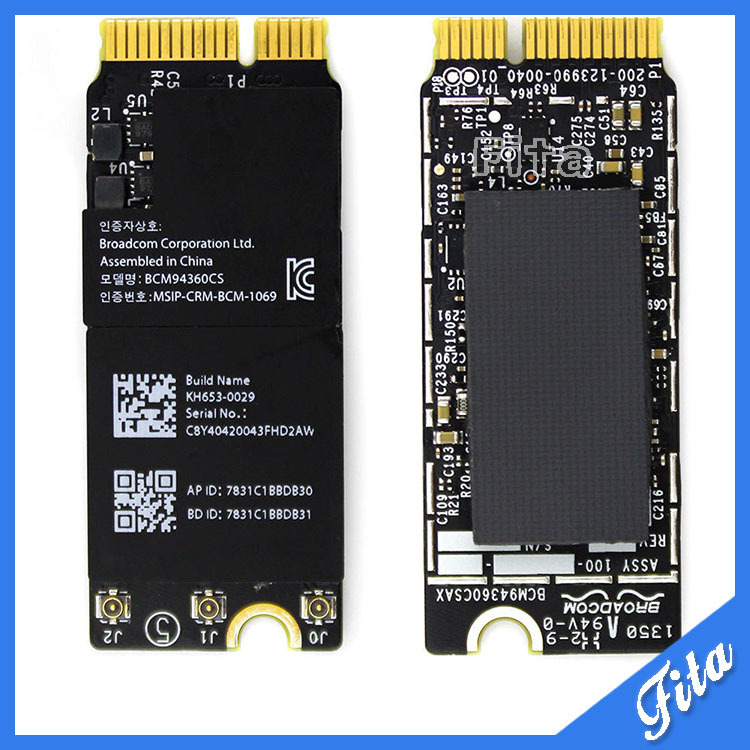 661-8143 653-0029 BCM94360CSAX Wifi Airport Card Bluetooth Board For Macbook Pro Retina 15″ 13″ A1398 A1502 Late 2013 Mid 2014