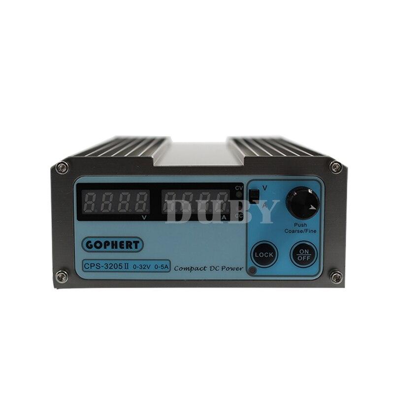 CPS-3205 II 160W  low power 110Vac/ 220Vac 0-32V/0-5A,Compact Digital Adjustable DC Power Supply OVP/OCP/OTP (EU UK US) adapter-1