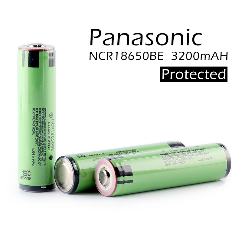 2pcs lot New Original For Panasonic Protected 18650 NCR18650BE 3200mah 3 7v Li ion Rechargeable battery For e cig with PCB in Rechargeable Batteries from Consumer Electronics