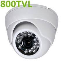 HD Cmos 3.6mm CCTV Home Security white IR Color night video Dome Camera 800TVL