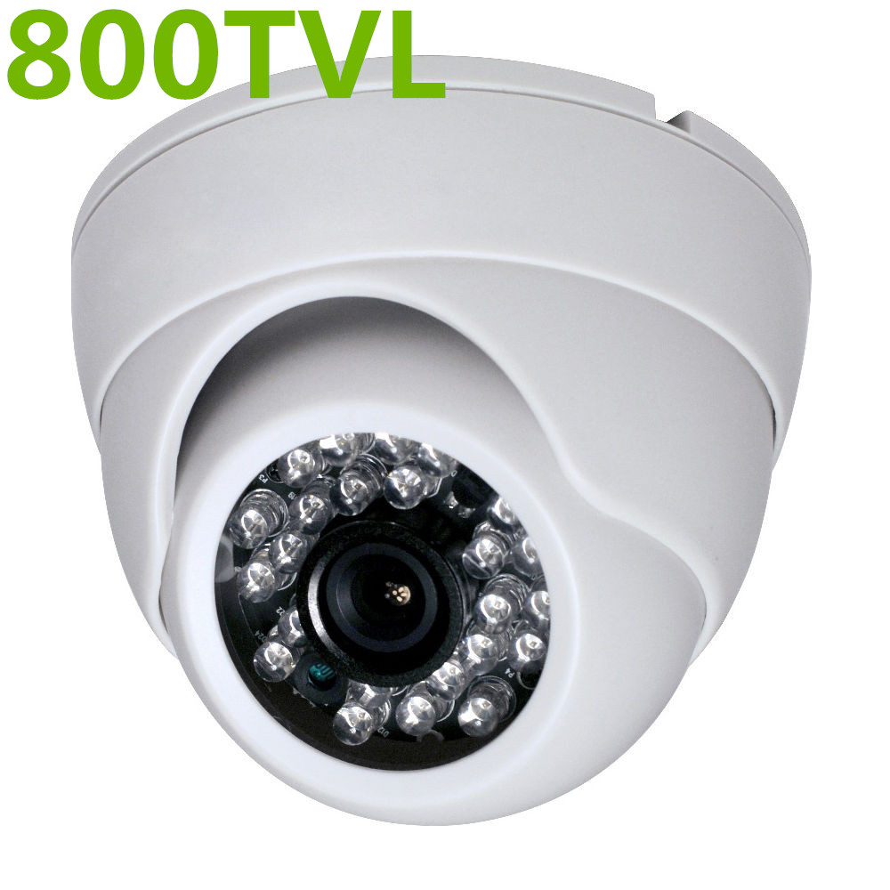 HD Cmos 3.6mm CCTV Home Security white IR Color night video Dome Camera 800TVL weipus wps gl3060h 3 6mm 1 4 cmos 800tvl surveillance ir dome camera w 24 ir led white