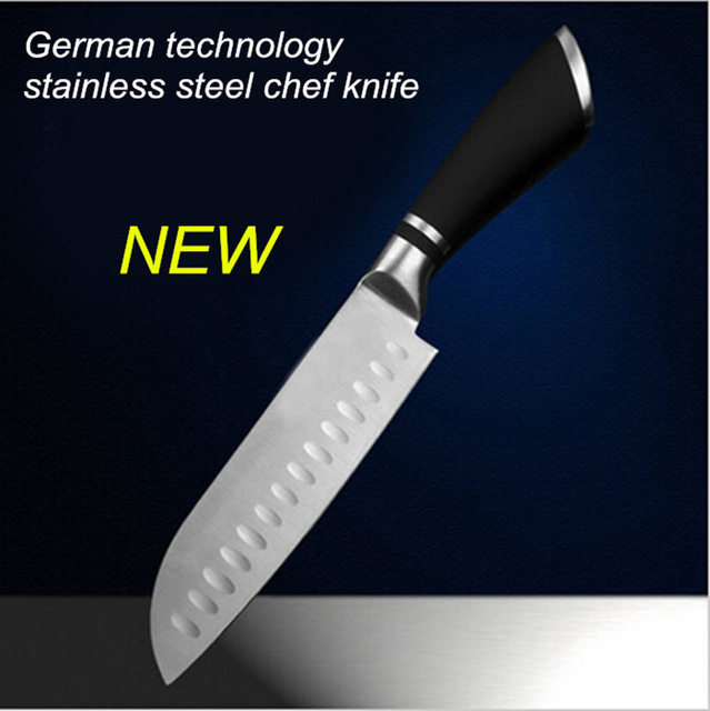 Free shipping stainless steel MIKALA Japanese style kitchen knife chef slicing knife fruit vegetable knife Santoku