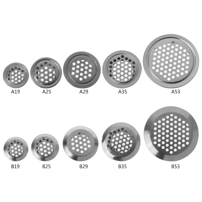 Flat Surface Convex Surface Stainless Steel Air Vent Hole Ventilation Louver Round Shaped Venting Mesh Holes Dropshipping