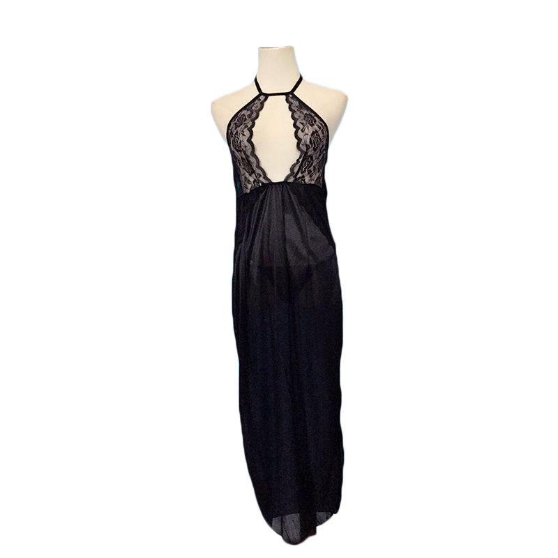 Women Lady New Fashion Solid Color Sexy High Split Halter long maxi Dress vestidos for women clothes summer hot