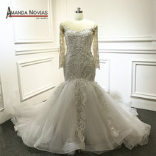 AMANDA NOVIAS Customized Long Sleeve Wedding Dress 2019