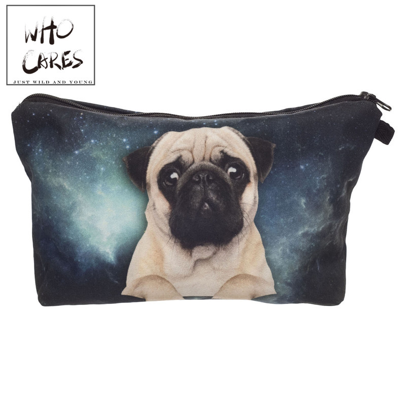 Galaxy pug 3D Printing cosmetic bag women makeup bag 2018 fashion pencil case trousse de maquillage pencil bags necessaire bags lips 3d printing pencil case cosmetic bag organizer 2017 fashion bags trousse de maquillage necessaire women pouch makeup bag