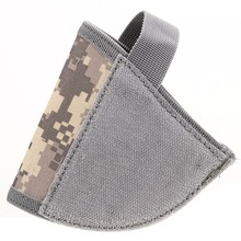 For1 pcs Adjustable Tactical Velcro Hook Pistol ACU Holster Right Hand Hook Loop Gun Holster