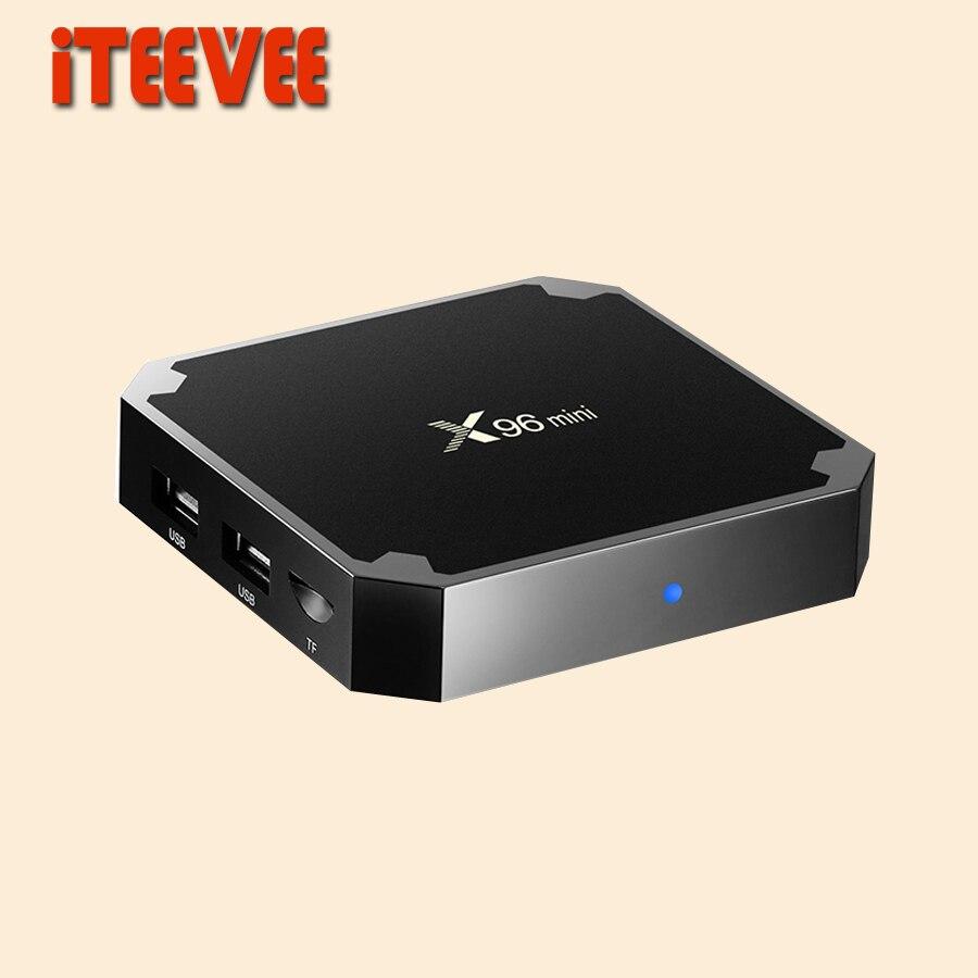 10PCS X96 mini Android 7 1 Smart TV BOX 1GB 8GB 2GB 16GB Amlogic S905W Quad