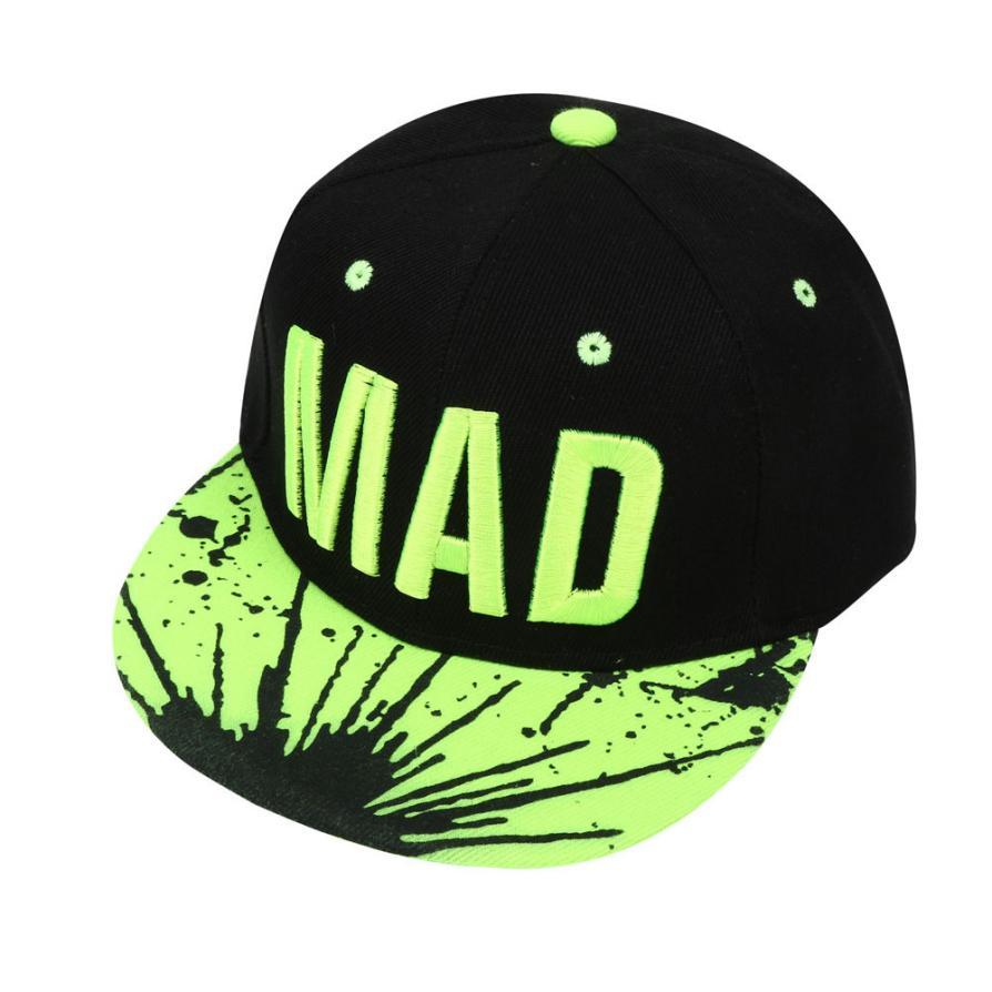 #4 Fashion Trend Hat Snapback Cap Kid Boys Girls Letters Baseball Caps Flat Hip Hop Cap