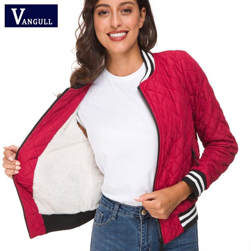 7f2d585f07 Cheap Vangull chaqueta de las mujeres 2019 nueva primavera Otoño Invierno  de terciopelo de cordero abrigo
