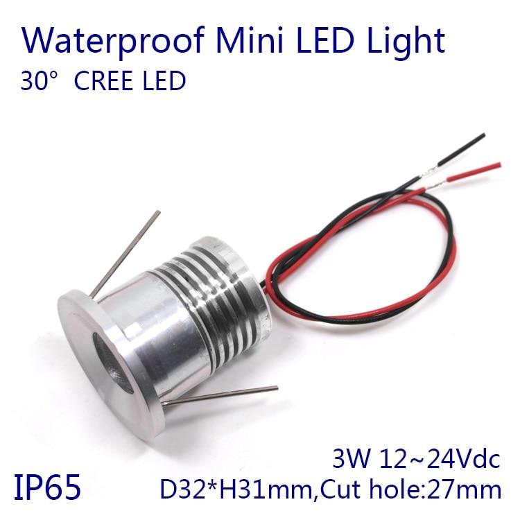 D32xh31mm затемнения 320-400lm IP65 Водонепроницаемый 4 Вт CREE чип светодиодный свет шкафа светодиодный встраиваемый светильник прожектор 10 шт./лот